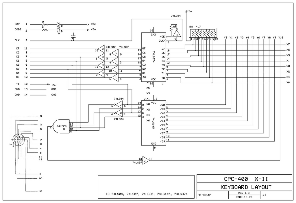 схема клавиатуры CPC-400