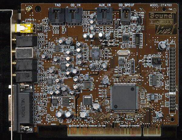 Creative sb live value ct4670 sound card